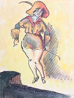 Ludovic-RodoPissarro - Cabaret Girl