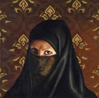 Fatma AbuRumi - Self Portrait Under a Veil