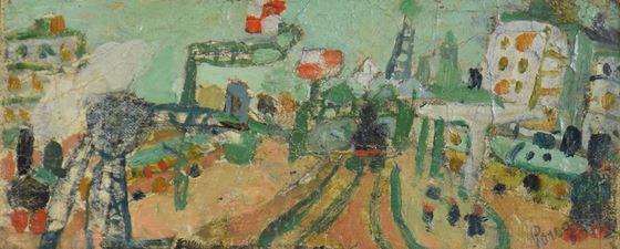 JeanPougny - Paysage de Paris (La Ligne de Chemin de Fer)