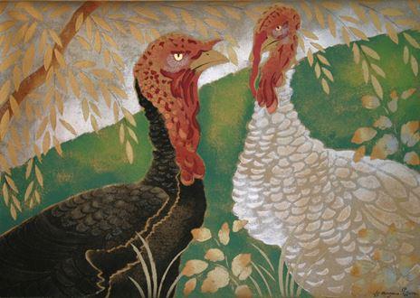 Georges ManzanaPissarro - Two Turkeys