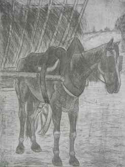 FélixPissarro - Horse Pulling Hay Cart