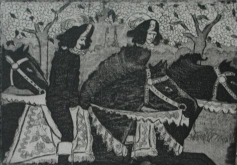 FélixPissarro - Cavaliers on Horseback