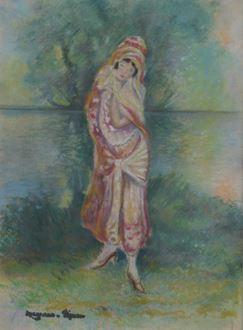 Georges ManzanaPissarro - Femme en Costume Oriental