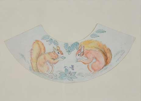 Georges ManzanaPissarro - Decorative Squirrel Design