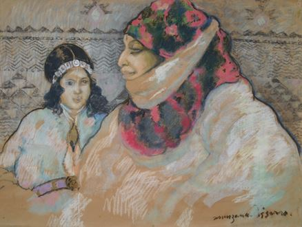 Georges ManzanaPissarro - Moroccan Woman with Girl
