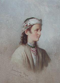 FranciszekTepa - Jeune Montagnarde des Environs de Truskaniva
