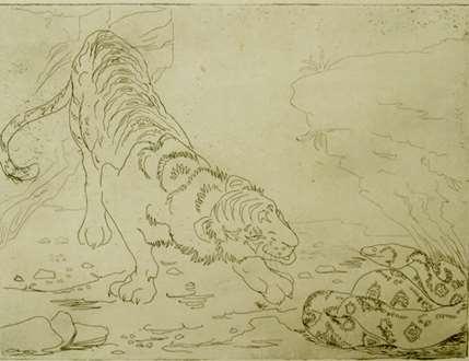 OrovidaPissarro - Tiger and Python