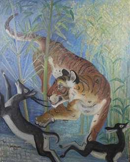 OrovidaPissarro - Tiger Surprises Black Buck